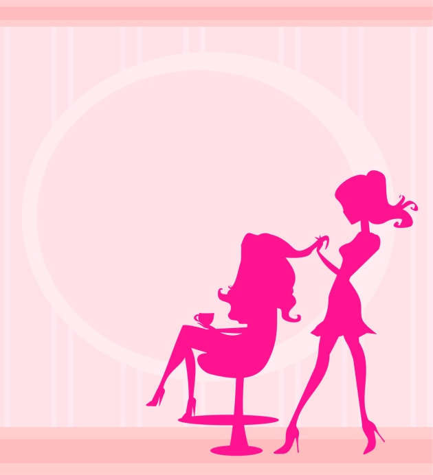 beautiful woman in hairdressing salon